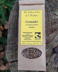 sachet graines coriandre